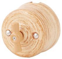 Выключатель 1-кл (проходной) 080-484 Оробико Россо,Кедр 1 положение, керамический. 240V, 10A.