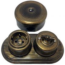 Выключатель 1-кл (проходной) В1-201-25 Bironi на одно положение, бронза