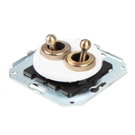 CL51WT Выключатель тумблерныйный 4-х позиционный для внутреннего монтажа проходной, белый