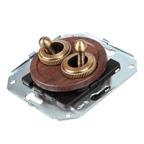 CL51CH Выключатель тумблерныйный 4-х позиционный для внутреннего монтажа проходной, вишня