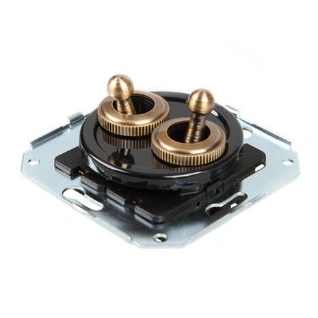 CL51BL Выключатель тумблерныйный 4-х позиционный для внутреннего монтажа проходной, черный