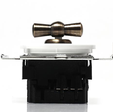 CL21WT Выключатель 4-х позиционный для внутреннего монтажа оконечный (Двухклавишный), белый
