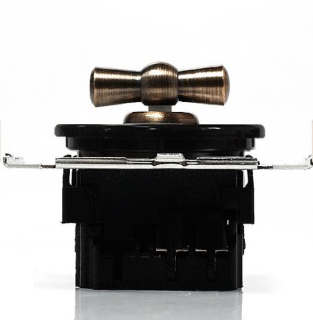 CL21BL Выключатель 4-х позиционный для внутреннего монтажа оконечный (Двухклавишный), черный