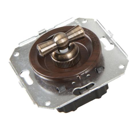 CL21WG Выключатель 4-х позиционный для внутреннего монтажа оконечный (Двухклавишный), венге