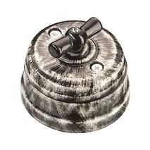 Выключатель 1-кл (проходной) фарфоровый поворотный на 2 положения (D70x60, 10А, 250В, IP20), цвет - nero, МезонинЪ, коллекция Art-Decor, GE70404-40