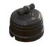 Выключатель 1-кл (проходной) фарфоровый поворотный на два положения (D70x60), цвет - черный, МезонинЪ GE70404-050