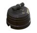 Выключатель фарфоровый поворотный на четыре положения (2-х клавишный, D70x60), цвет - черный, МезонинЪ GE70401-050