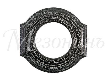 """Рамка одноместная GE70701-52 """"Элегант"""", цвет - кракелюр черный/серебро, МезонинЪ"""