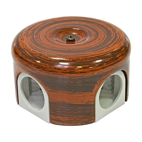Lindas Распределительная коробка  d 90mm декор Палисандр 33527