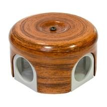 Lindas Распределительная коробка  d 78mm декор Орех 33026
