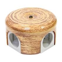 Lindas Распределительная коробка  d 78mm декор Кедр 33024