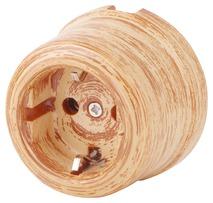 080-491 Розетка Оробико Россо,Кедр электрическая керамическая. С заземляющим контактом.240V, 16A.