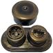 Старинный перекрестный выключатель пластик, бронза, B1-203-25 Bironi1