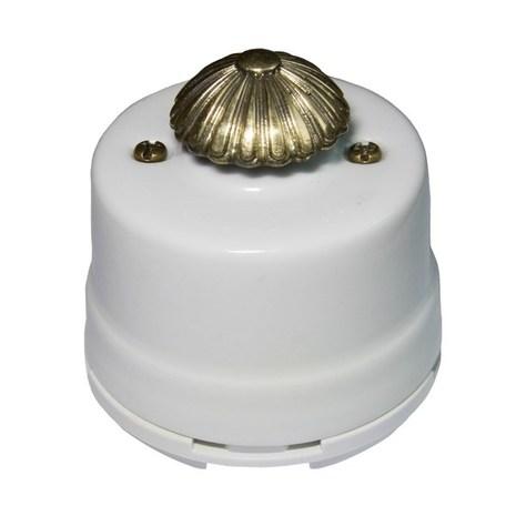 OPDMWT Выключатель с регулятором яркости для наружного монтажа (Диммер), белый