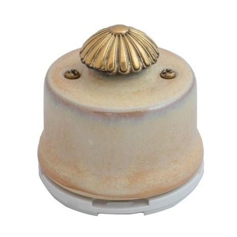 OPDMGD Выключатель с регулятором яркости для наружного монтажа (Диммер), бежевый