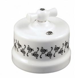 B1-202-01 D1/1 Bironi Выключатель двухклавишный, декор