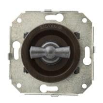 """Выключатель 1-кл (проходной) CL11WG.SL 2-х позиционный для внутреннего монтажа серии """"состаренное серебро, венге"""