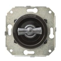 """Выключатель 1-кл (проходной) CL11BR.SL 2-х позиционный для внутреннего монтажа серии """"состаренное серебро, коричневый"""