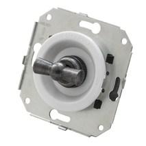 """CL21WT.SL Выключатель 4-х позиционный для внутреннего монтажа оконечный (Двухклавишный) серии """"состаренное серебро"""", белый"""