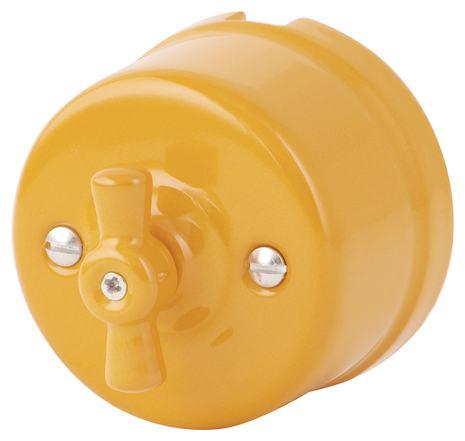 080-910 Выключатель Баррикато проходной  двухклавишный керамический. 240V, 10A.