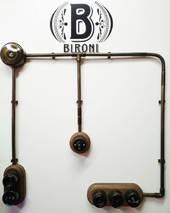 Тройник соединительный для труб d-16 мм, пластик, бронза, Bironi BTT1-16-25