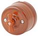 080-934 Выключатель Руж Антик проходной на двухклавишный, керамический. 240V, 10A.0