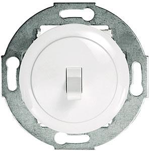 Переключатель 1-рычажковый, на 2 направления (схема 6) 16 A, 250 B (белый) 880804-1-W