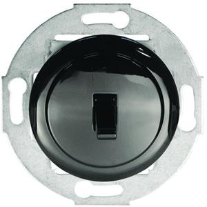 Переключатель 1-рычажковый, на 2 направления (схема 6) 10 A, 250 B (черный) 880808-1