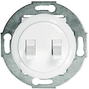 Выключатель 2-рычажковый (схема 5) 10 A, 250 B (белый) 882304-1