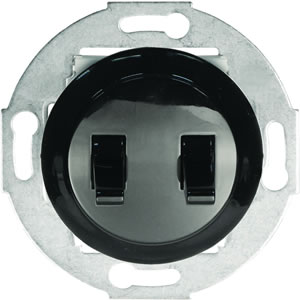 Выключатель 2-рычажковый (схема 5) 10 A, 250 B (черный) 882308-1