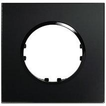Рамка 1-постовая квадрат из натурального темного стекла 884110-1