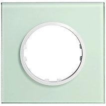 Рамка 1-постовая квадрат из натурального светлого стекла 884111-1