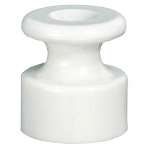 Фиксатор кабеля (изолятор) для внешней проводки кабеля (белый) 888304