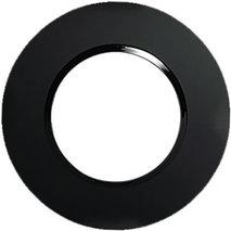 Рамка 1-постовая круглая из натурального темного стекла 889110-1