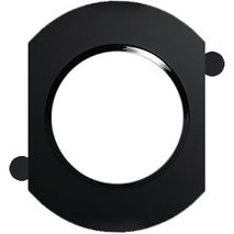 Рамка круглая промежуточная для 3-х и более постов оконечная из натурального темного стекла 889310-1