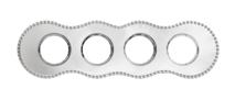 BF8-640-30 Bironi Рамка четырехместная, Металл хром