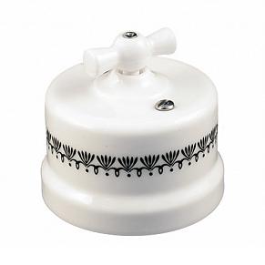 B1-202-01 D5/1 Bironi Выключатель двухклавишный, декор