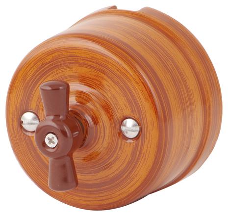 Выключатель 1-кл (проходной) 080-453 Шандон Руж 1 положение, керамический. 240V, 10A.
