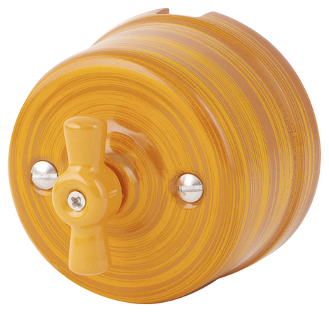 Выключатель 1-кл (проходной) 080-392 Имперадор 1 положение, керамический. 240V, 10A.