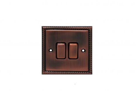 Двухклавишный проходной выключатель TJ Electric СМЕ2512-2-BZ