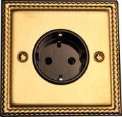 Розетка с зазем.контактом TJ Electric СМЕ827-MBR