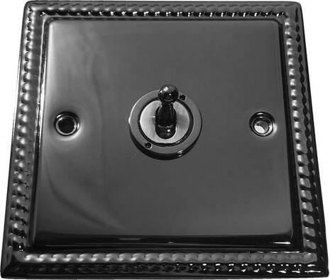 Выключатель 1-кл (проходной) тумблерный Balfour Grand D1000BN