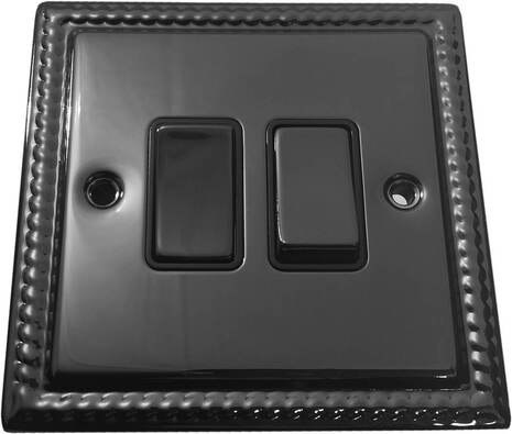 Двухклавишный выключатель проходной Balfour Grand D3022BN