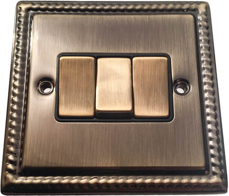 Трёхклавишный выключатель проходной Balfour Grand D3032AB