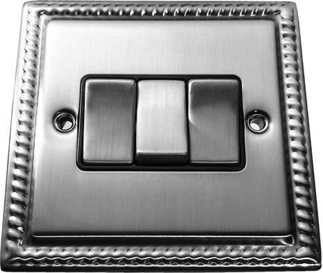 Трёхклавишный выключатель проходной Balfour Grand D3032BC