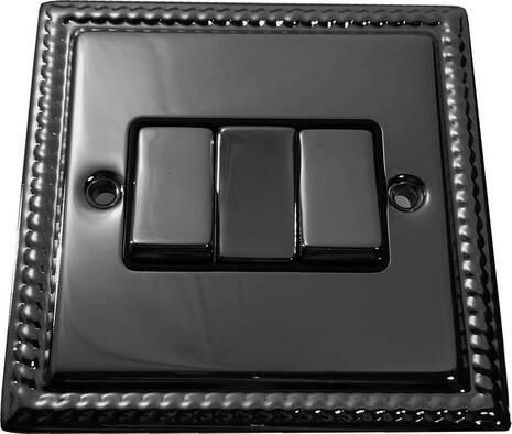 Трёхклавишный выключатель проходной Balfour Grand D3032BN