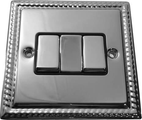 Трёхклавишный выключатель проходной Balfour Grand D3032PC