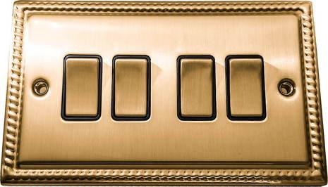 Четырёхклавишный выключатель проходной Balfour Grand D3042BB
