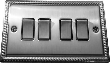 Четырёхклавишный выключатель проходной Balfour Grand D3042BC