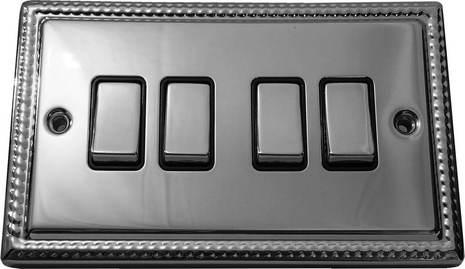 Четырёхклавишный выключатель проходной Balfour Grand D3042PC